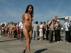 Sinful Brunette Is Not Scared Of Showing Her Hot Body in Public