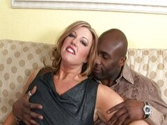 Chubby MILF nailed by a black guy
