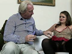 Part 2. Naughty brunette up with her pussy and ass getting drilled by cock!