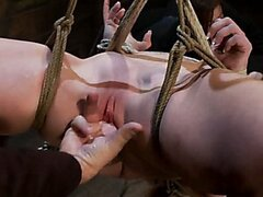 2 amazing girls, 2 massive sets of bound boobage YL Brutal screaming squirting orgasms from hell!