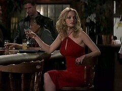 Bonerific Blonde Babe Heather Graham Wearing a Tight Red Dress