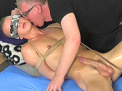 Sebastian Kane is masturbating a dick of Tyler Martin