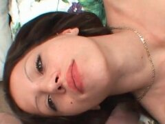 Fucking her throat and cumming on her face
