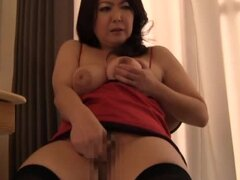 Hot Japanese mature whores shows some  masturbation pleasures