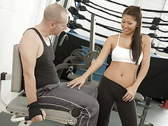Beti Hana went to the gym to pump iron and work out some sexual frustration. Beti Hana was working up a good sweat when she noticed her pussy was getting wet thinking of getting pounded by the hot guy in the gym with her. So what is a girl to do? Cum see