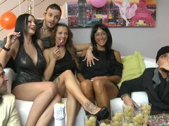 Wild party with stunning brunettes