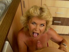 Bang the Granny and Make Her Moan Out Loud with Pleasure