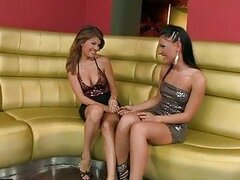 Euro slut Jasmine Rouge strips down girl friend and nibbles on erect nipples