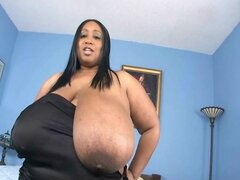 Busty BBW Cotton Candi 46M Gets Oiled UP and Fucked