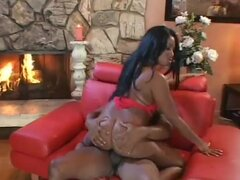 Wild Candace Von rides her hot pussy on a huge prick