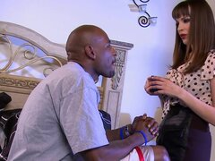 Interracial fucking with slender and busty Dana Dearmond