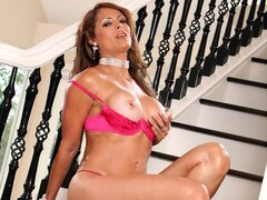 Monique Fuentes the freaky sex loving MILF rides some random rod in her mansion
