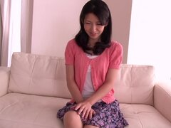 Japanese hottie Hitomi Honjou satisfies herself with masturbation