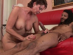 Black hippie from Cuba fucks cougar mommy Vanessa Videl