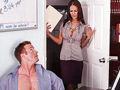 Angelina's boss leaves unexpectedly but before leaving warns Angelina not to go in her office. Being the nosy secretary that Angelina is, she goes into her boss' office to find TJ handcuffed to her chair naked!Knowing her boss won't be back for awhile, An