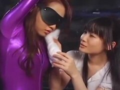 Lesbian Blindfolded in Dungeon