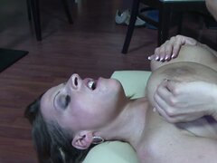 Tit fuck and doggystyle drilling of greedy housewife Ann Stefani