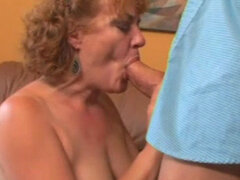 Mature Tierece Saulrine is sucking cock like a pro