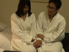 Moe Mitsui gets fucked in missionary position in a hotel room