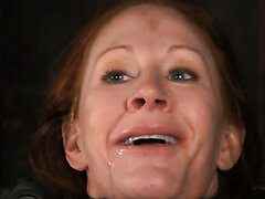 Tall ginger bitch gets tied and wishes to be fucked rough
