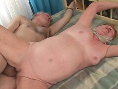 Old lady Alice sucks that old fart's cock and gets banged