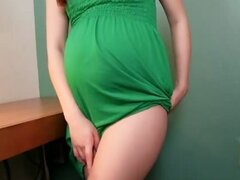 Cute pregnant girl dress