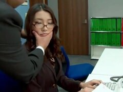 Secretary rimmed and fingered in the office