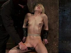 Extreme Torture For a Tied Up Blonde Babe In BDSM