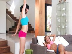 Hot MILF fucks her sexy yoga teacher