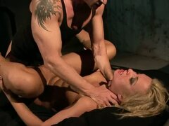 Hot Domination Sex for Tied and Tortured Blonde Angelic Diamond