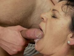 Helena May gets her old pussy toyed, licked and fucked