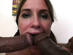 Two foot long monster cocks for one poor girl Angelina