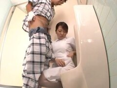 Kinky Japanese nurse works in the hospital for cock!