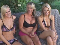 Slender blondes with fake breasts