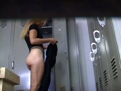 candid in locker-room