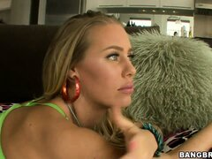 Nicole Aniston showing her nice hairy pussy in a hot teasing video
