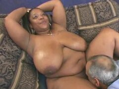 Curvy ebony whore gets her meaty pussy drilled deep and hard