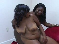 Two lesbian bbw loves pumping some nice hard toy dildo