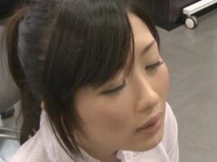 Lusty office manager from Japan makes some show