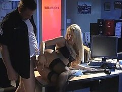 Fingering and Toying Jessica Drake's Ass and Fucking her Pussy in the Office