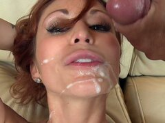 Monique Alexander is a red-head milf with an amazing body. This mom definitely rocks! She has a nice pair of tits, a juicy ass and a tight pink pussy that looks tasty. Derrick should consider himself lucky. To fuck a mom that looks like Monique is every young mans dream. He was in for a good fucking. Monique showcased how a cock should be sucked. Slobbering all over the cock, prepping it for whats to come and thats a good fucking from Derrick. But first he just had to taste that cherry of hers. Like they say,
