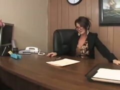 Horny Milf Businesswoman Letting Loose