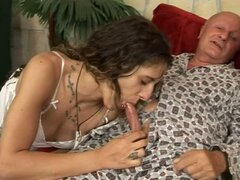 Dirty Dominika Loves Having Older Guys Pee On Her