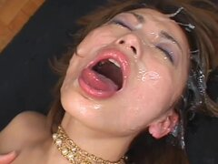 Japanese in facial hardcore action