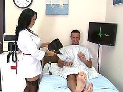 Doctor and Wife Sharing the Patient's Big Cock in the Hospital