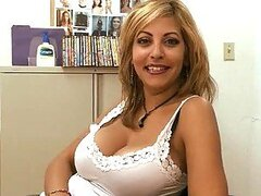 Sexy Puerto Rican Latina Showing Her Big Natural Tits In An Interview