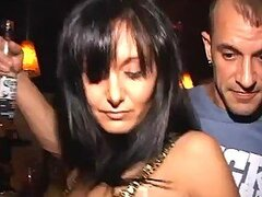 Drunk And Gorgeous Brunette Rides A Thick Dick In A Sex Party