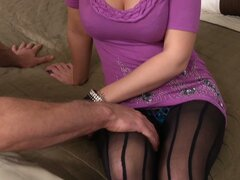 Good neighbor visits Tristyn Kennedy when she was getting naked
