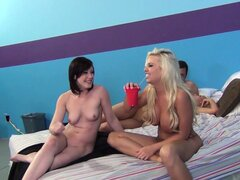 Jennifer White smokes cigs while Britney Amber and Laela Pryce are smoking dick