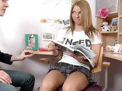 School girl fucks hard and tries anal sex/ Madelyn
